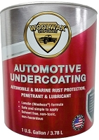 Woolwax Auto Undercoating  1 gallon can.  Clear & Black