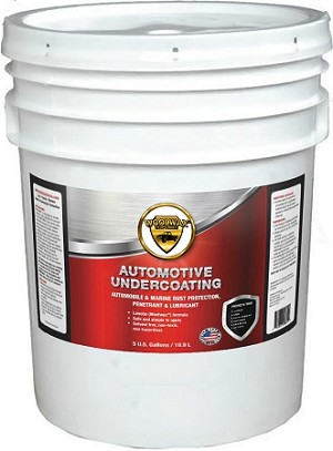 WoolWax® Lanolin Undercoating Five Gallon Pail.  Free Shipping.  Clear & Black